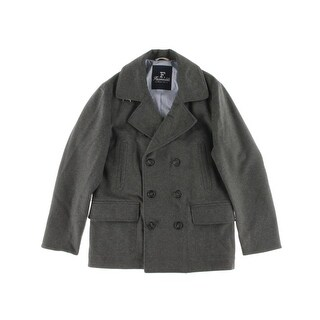 Faconnable Mens Wool Double Breasted Pea Coat - 58