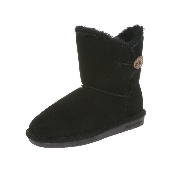 Bearpaw Boots Womens Rosie Toggle Cow Suede Sheepskin