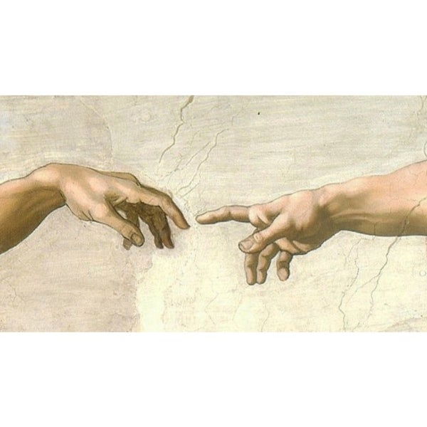 Easy Art Prints Michelangelo's 'Creation Detail, Sistine Chapel' Premium Canvas Art