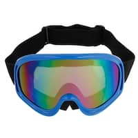 Winter Cycling Outdoor Colorful Lens Blue Rim Glasses Anti Fog Ski Goggles