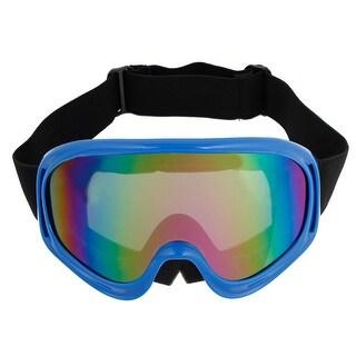 Winter Cycling Outdoor Colorful Lens Blue Rim Glasses Anti Fog Ski Goggles