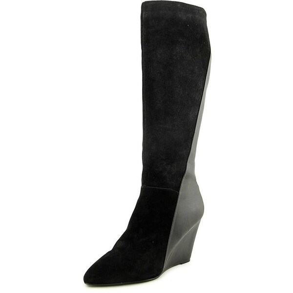 Charles By Charles David Easton Pointed Toe Suede Knee High Boot