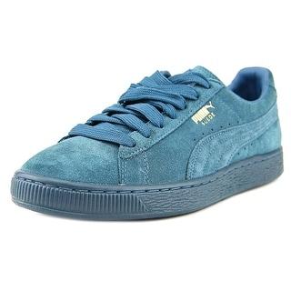 Puma Suede Classic + Mono Reflced Men Round Toe Suede Blue Sneakers