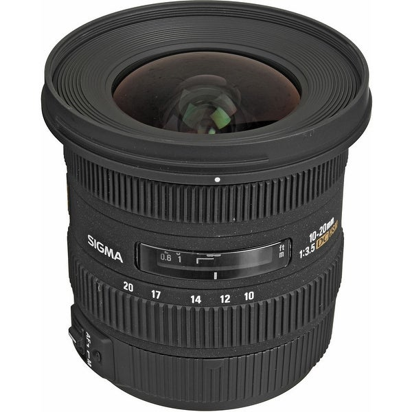 Sigma 10-20mm f/3.5 EX DC HSM Autofocus Zoom Lens For Canon Cameras (International Model) - Black