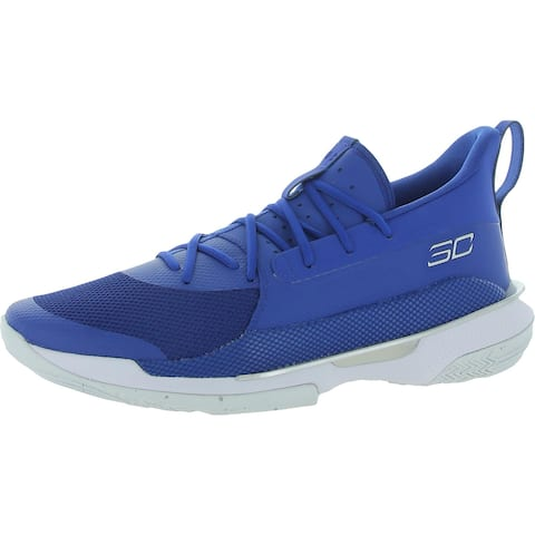 Under Armour Mens UA Team Curry 7 Basketball Shoes Ankle Performance