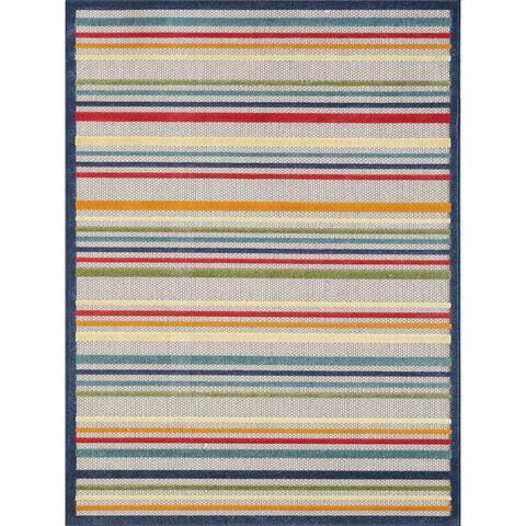 Domani Napa Summer Stripe Indoor/ Outdoor Rug