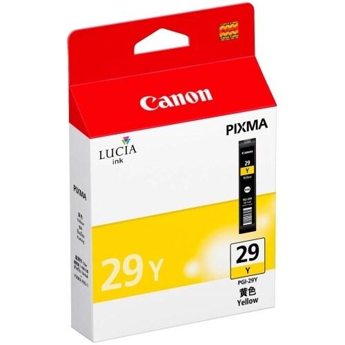 Canon PGI-29 Y Ink Tank Canon LUCIA PGI-29Y Ink Cartridge - Yellow - Inkjet - 1 Pack - OEM