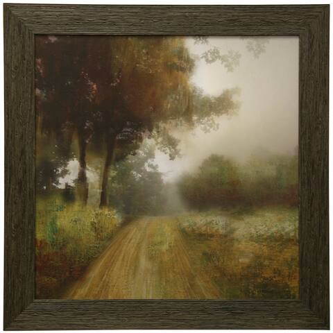 StyleCraft Take Me Home Traditional Landscape Wall Art Textured Framed Print
