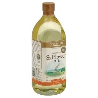 Spectrum Naturals High Heat Refined Safflower Oil - Case of 12 - 32 Fl oz.
