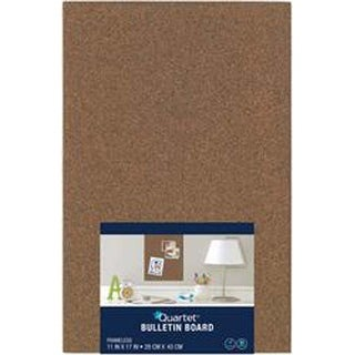"Brown; Modular - Quartet Cork Bulletin Board Tile 11""X17"""