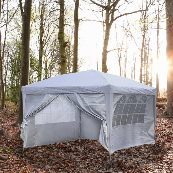 Zenova 10x10 Pop Up Canopy Tent Instant Folding Shelter With 4 Sidewalls. Opens flyout.