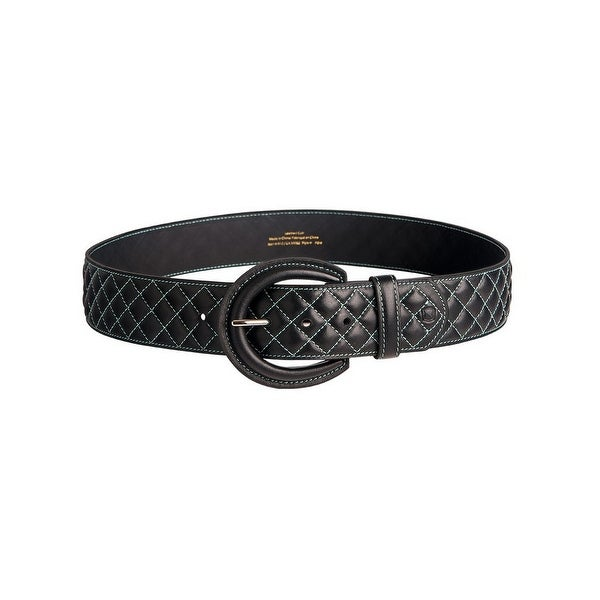 Noble Outfitters English Belt Womens Classic Quilted Stitched