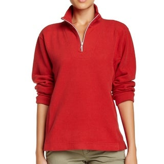 Tommy Bahama NEW Red Chilli Pepper Womens Size Medium M 1/2 Zip Sweater