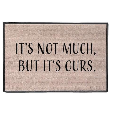 """It's Ours Doormat - But It's Ours Olefin Welcome Mat - 27"""" x 18"""" Door Mat - Beige"""