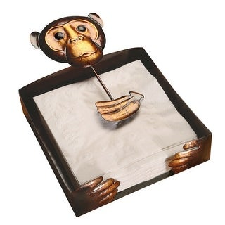 Art & Artifact Monkey Napkin Holder - Copper Painted Metal - 7.5 in. x 2 in. x 11 in.