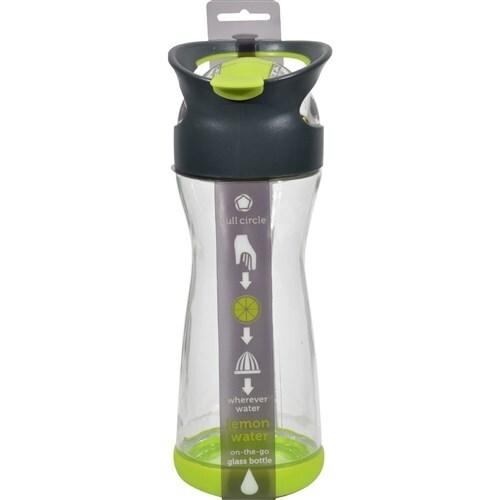 Full Circle Home On the Go Lemon Glass Water Bottle - Lime Water Bottles