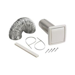"""Broan WVK2A Wall Ducting Kit, 4"""", White"""