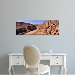 Easy Art Prints Panoramic Image 'Scenic view of Rio Grande River in Big Bend National Park, Texas, USA' Canvas Art