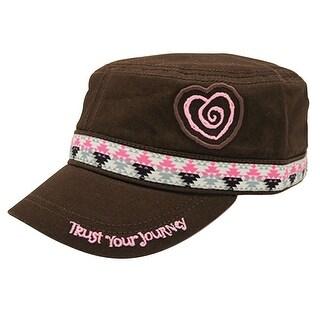 Women's Cadet Message Hat - Cotton Feminine Billed Cap - Meaning