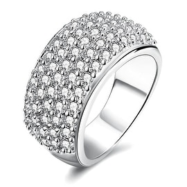 White Gold Classical Pave' Ring