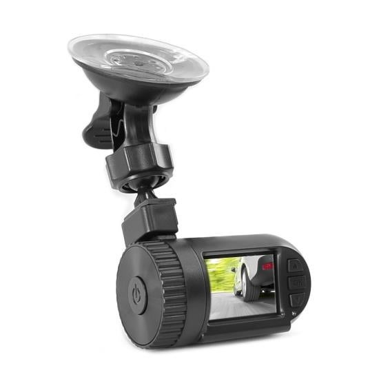 Compact HD Dash Cam, Hi-Res 1080p DVR Video Recording, Image Capture, LCD Display