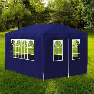 vidaXL Outdoor Party Tent Blue Canopy Gazebo Pavilion Events 4 Walls Garden