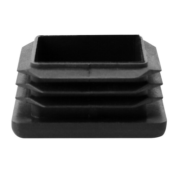 """40 x 40mm Plastic Square Ribbed Tube Inserts End Cover Cap, for 1.46"""" to 1.54"""" Inner Size, Furniture Table Feet Floor Protector"""