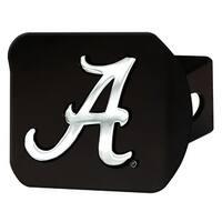 "University of Alabama Hitch Cover - Black - 3.4""x4"""