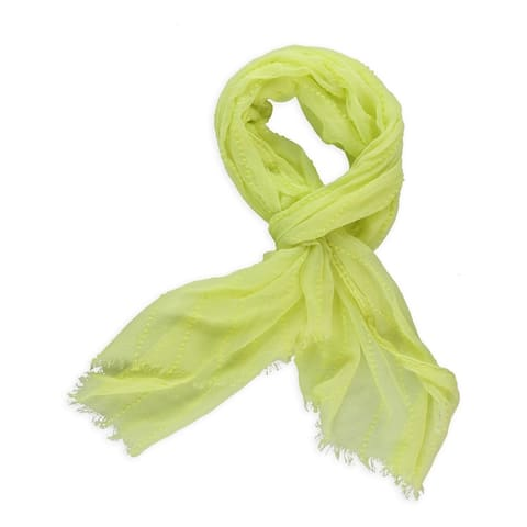 Aeropostale Womens Dobby Sheer Scarf, yellow, Classic (57 To 59 in.) - Classic (57 To 59 in.)
