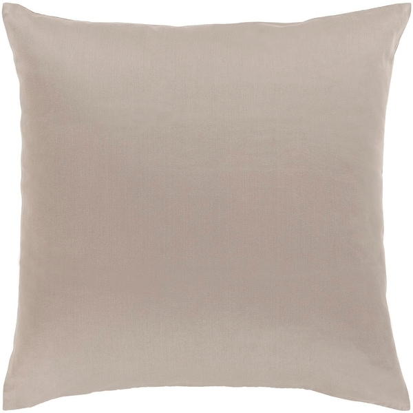 """20"""" Light Gray Woven Indoor Square Throw Pillow with Sewn Seam Closure"""