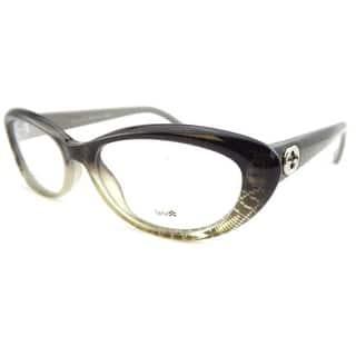 gucci womens eyeglasses 3566 w9r16 plastic oval grey silver frames - Womens Gucci Frames