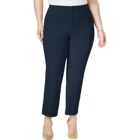 Charter Club Women's Pants Blue Size 24W Plus Tummy-Control Stretch