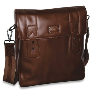 DOPP Men's Leather Gear Urban Messenger Bag