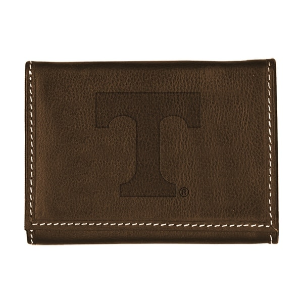 University of Tennessee Contrast Stitch Trifold Leather Wallet