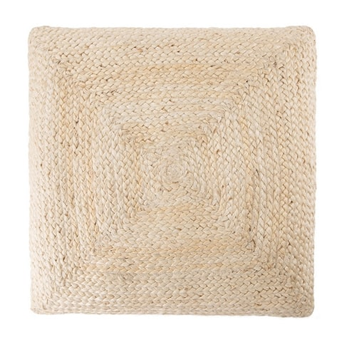 The Curated Nomad Faxon Textured Jute Floor Cushion