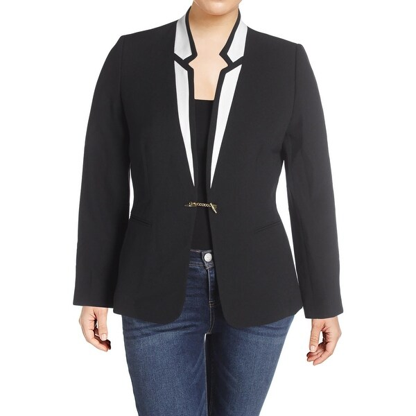 eea2107a7ce8 Shop Tahari ASL Womens Blazer Textured Contrast Trim - Free Shipping On  Orders Over  45 - Overstock - 22818838