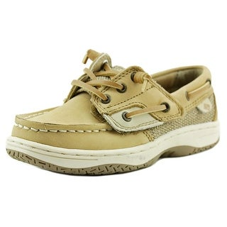 Sperry Top Sider Ivyfish Youth W Moc Toe Leather Tan Boat Shoe