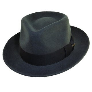 Dorfman Pacific Men's Crushable Wool Felt Fedora Hat