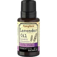 Piping Rock 0.5-ounce 100% Pure Lavender Essential Oil Dropper Bottle