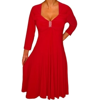 Funfash Plus Size Clothing for Women Long Sleeves Empire Waist Cocktail Dress