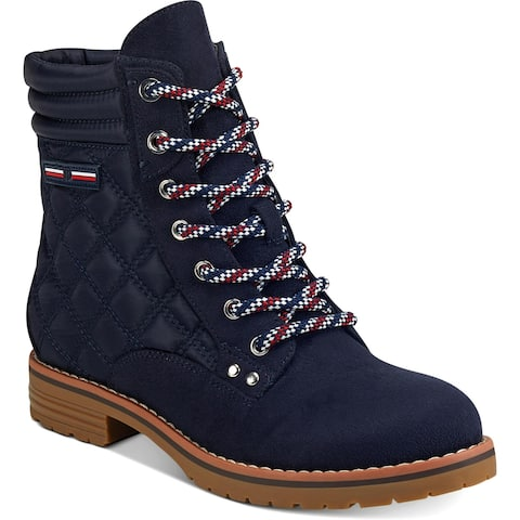 Tommy Hilfiger Womens Onella Ankle Boots Quilted Booties