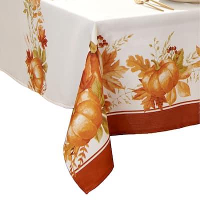 Autumn Pumpkin Grove Fall Tablecloth