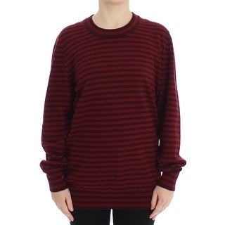 Dolce & Gabbana Dolce & Gabbana Red Striped Cashmere Pullover Sweater