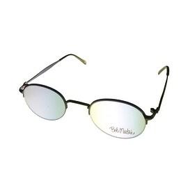 Bob Mackie Mens Opthalmic Eyeglass Rimless Round Metal Frame #854 Satin Taupe