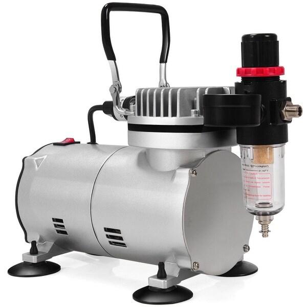 3 Compressor Kit Dual-Action Spray Air Brush Set