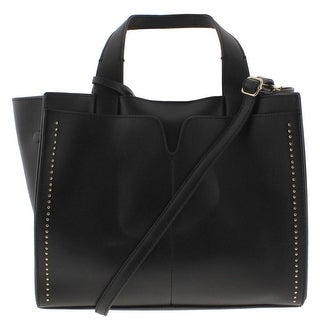 London Fog Womens Tote Handbag Studded Leather - Large
