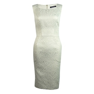 Ellen Tracy Women's Pocketed Metallic Animal Print Dress - Ivory