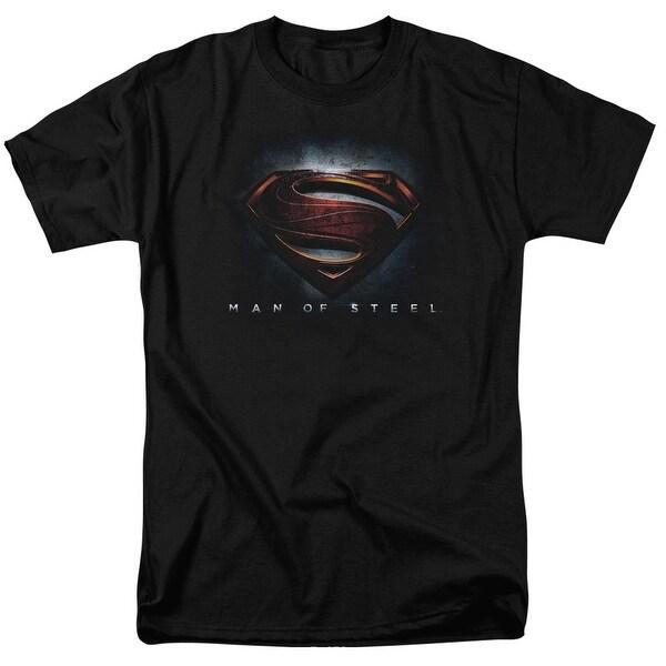 Man of Steel Superman Man of Steel Superman Shield Mens Short Sleeve Shirt