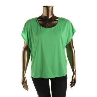 Two by Vince Camuto Womens Modal Blend Braided Pullover Top - L