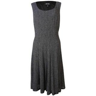 Nine west black lace overlay dress